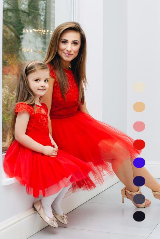 02d25f883b LaKey Hoppe zestaw sukienek mama i córka - sukienka dla córki